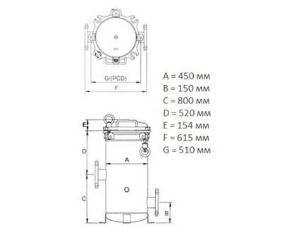 Мультипатронный фильтр 50 куб/час, фото 1
