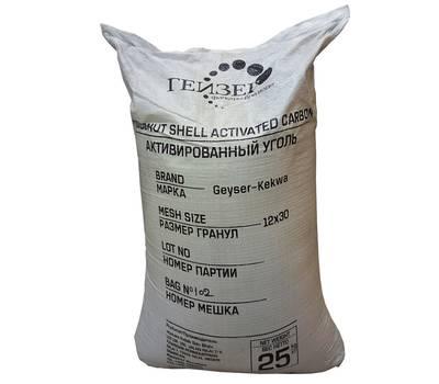 Уголь гранулированный кокосовый Kekwa, мешок 50 л, фракция - 0,65 - 2,0 мм, фото 1